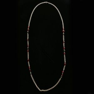 Luxury Faceted Necklace Gold/Red NWOT